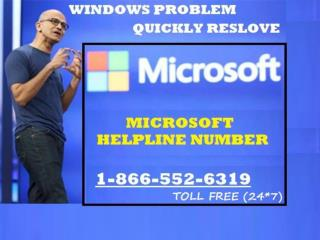 Microsoft Help Number Call freely on 1-866-552-6319