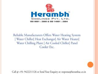 Water Chiller Manufaturers