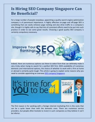 Is Hiring SEO Company Singapore Can Be Beneficial?
