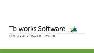 Tb works software trial balance software information