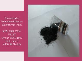 Vannfilter - REMARK VAN-VLIET