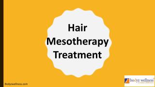 Hair Mesotherapy Treatment in Mumbai