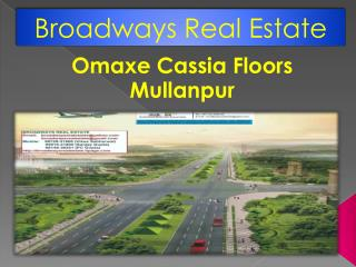 Omaxe Cassia Floors Mullanpur, Omaxe 3bhk Cassia Floors New Chandigarh