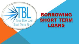 Borrowing Short Term Loans