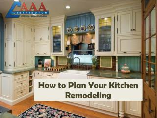 How to plan kitchen remodeling