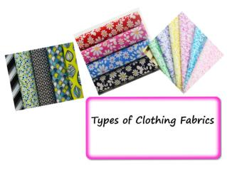 Types of Clothing Fabrics