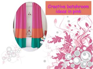 Creative bathroom ideas in pink