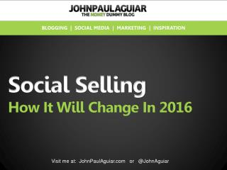 Social Selling Changes In 2016 - Infographic