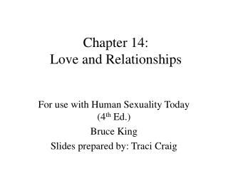 Chapter 14:  Love and Relationships
