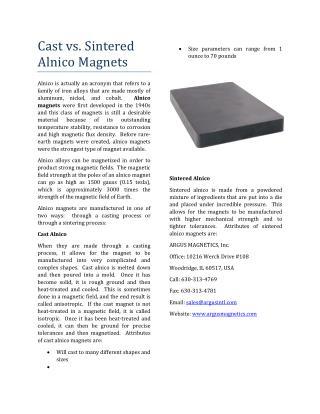Cast vs. Sintered Alnico Magnets