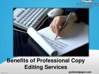 Benefits of professional copy editing services
