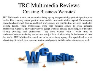 TRC Multimedia Reviews Creating Business Websites