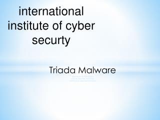 Triada Malware