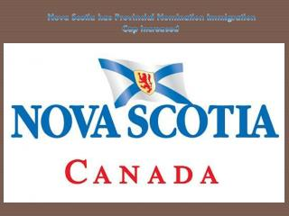 Nova Scotia has Provincial Nomination Immigration Cap Increased