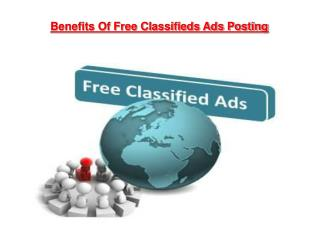 Benefits Of Free Classifieds Ads Posting