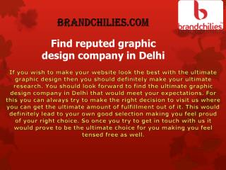Find reputed graphic design company in Delhi