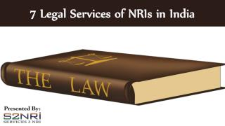 7 legal services of nris in india