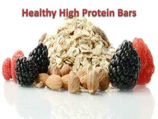 Healthy High Protein Bars- Balancedproteindiet.com
