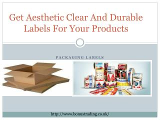 Get Aesthetic Clear And Durable Labels For Your Products