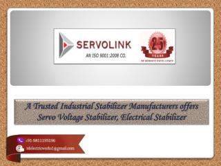 Servo Voltage Stabilizers Manufacturers