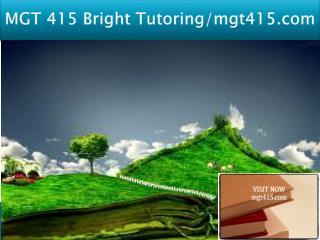 MGT 415 Bright Tutoring/mgt415.com