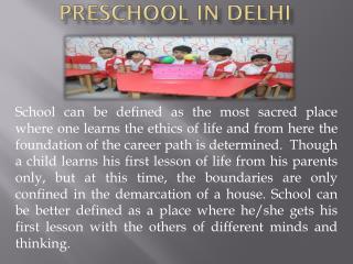 Preschool in Delhi