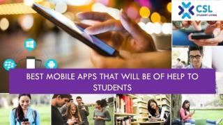 Best Mobile Apps that will be of help to Students