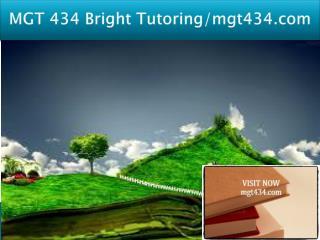 MGT 434 Bright Tutoring/mgt434.com