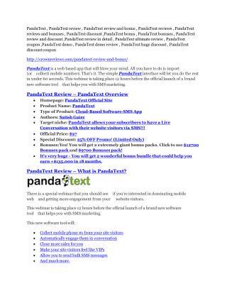 PandaText review pro-$15900 bonuses (free)