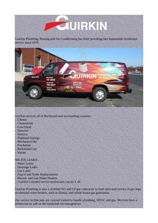 Guirkin Plumbing Heating and AC offering an HVAC service