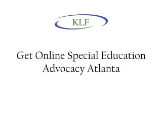 Get Online Special Education Advocacy Atlanta