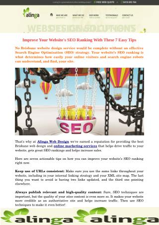 Improve Your Website's SEO Ranking With These 7 Easy Tips