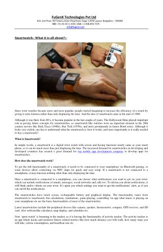 Smartwatch-What it is all about?