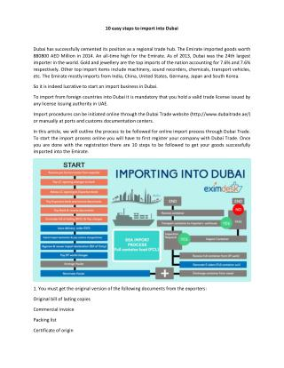 10 easy steps to import into Dubai
