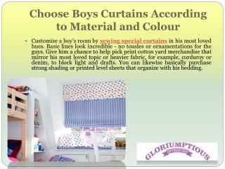Choose Boys Curtains According to Material and Colour