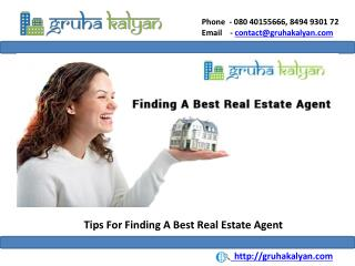 Tips For Finding A Best Real Estate Agent