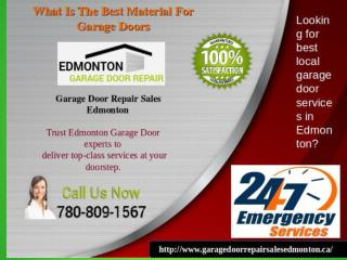 What Is The Best Material For Garage Doors