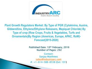 Plant growth regulators Market Exploding day by day as it is adopted by doctors worldwide.