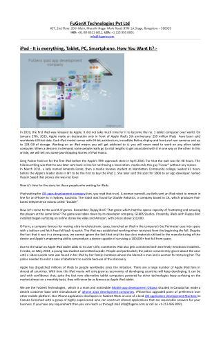 ipad app development companies Canada