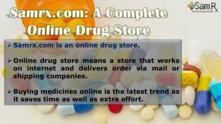 Samrx.com: A Complete Online Drug Store