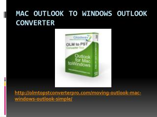 Mac Outlook to Window Outlook Software
