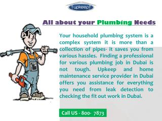 Superb Fit Out Work and Plumbing Job in Dubai
