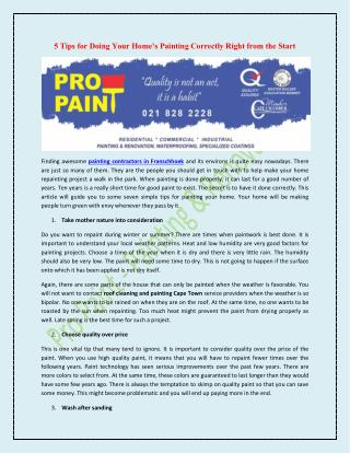 Pro Paint - Painting & Renovations