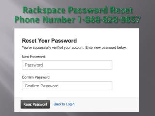 Rackspace 1-888-828-9857 Password Recovery Number