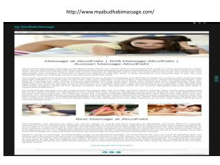 Massage at Abudhabi | B2B Massage Abudhabi | Russian Massage Abudhabi We provide high qua
