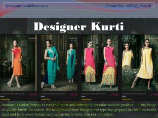 Designer Kurti Online - Fashion Kurti Online - Ammara Fashion