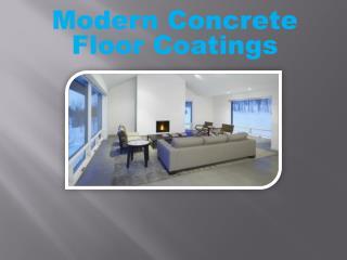 Modern Concrete Floor Coatings