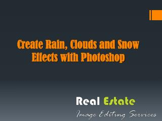 Create rain clouds and snow effects with Photoshop