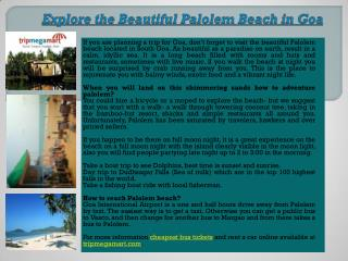 Holiday Package to Beautiful Palolem Beach in Goa by TripMegaMart