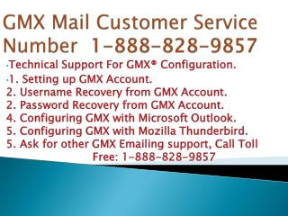 GMX MAIL customer  1-888-828-9857 support phone number
